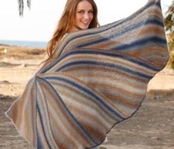 Полосатая шаль «Сойка»