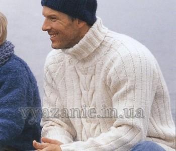 Мужской пуловер и шапка