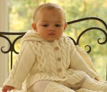 Комплект: жакет, носочки, одеяло для малыша