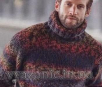 Мужской свитер с рукавами реглан