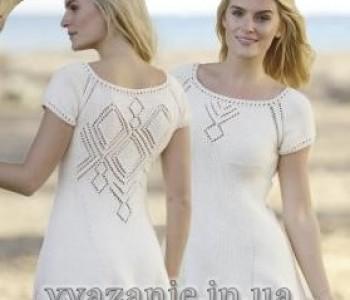 Короткое платье с ажурными ромбами