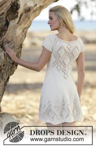 Платье с ажурными ромбами