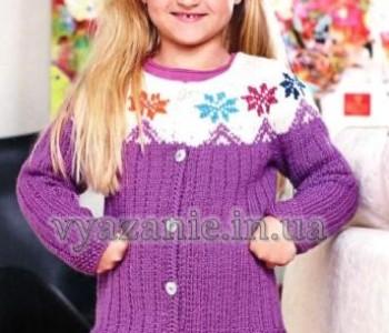 Детский жакет с цветным узором