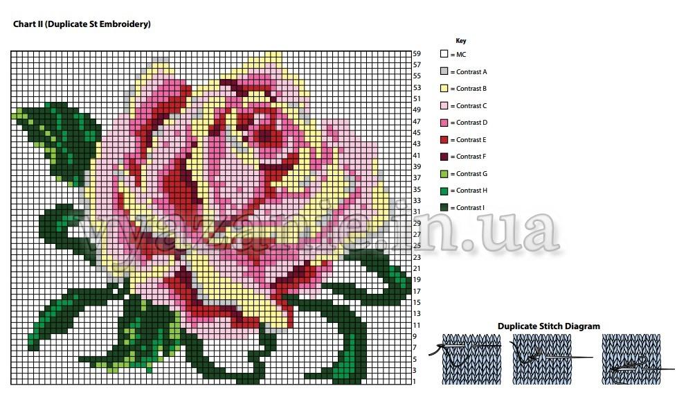 Схема розы 2