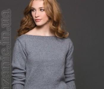Классический пуловер спицами