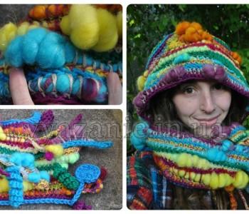 Оригинальный и неповторимый шарф-капюшон