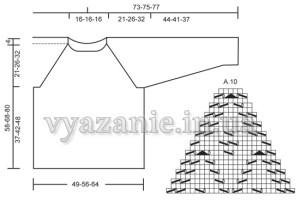 Схема свитера спицами
