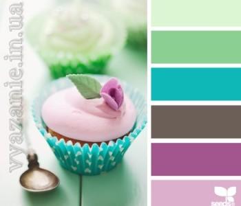 Сочетания цветов сиреневого, фиолетового, фуксии