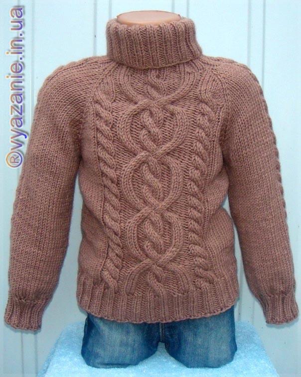 свитер классические узоры лучший сайт по вязанию