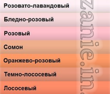 Название цветов и оттенков