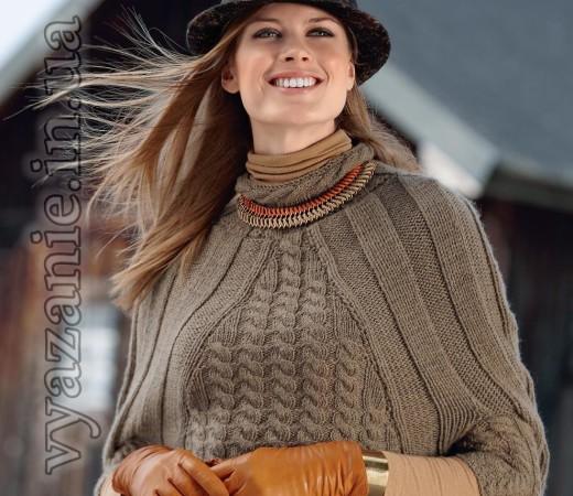 Просторный пуловер-кейп – необходимая вещь в осеннем гардеробе. Уютная, как любая накидка, и практичная, как всякий пуловер, эта модель легко станет вашим фаворитом.
