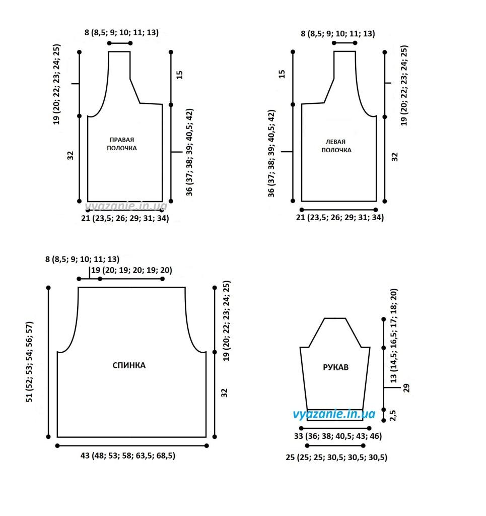Схема жакета