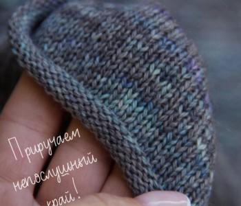 Обработка края вязаного изделия