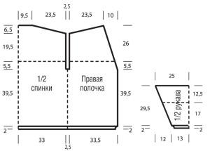 Схема выкройки кардигана