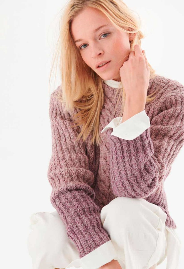 Пуловер из кос