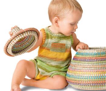 Детский комбинезон с кармашком