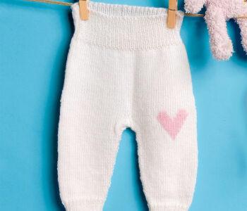 Детские штанишки с вышивкой «Сердечко»